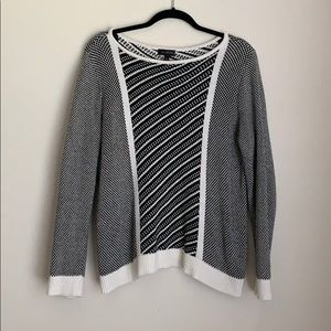 THE LIMITED | black and white sweater